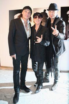 Matthias Jabs, Klaus Meine and Rudolf Schenker of the Scorpions, Munich, Germany. December 18, 2012.