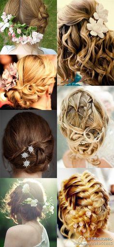 Bridal Hairdos...oh so beautiful!
