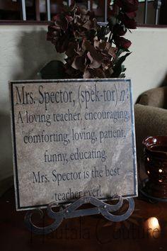 Personalized teacher tile