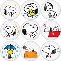 "SNOOPY 1.75"" Badges Pinbacks, Mirror, Magnet, Bottle Opener Keychain http://www.amazon.com/gp/product/B00C30D7AK"