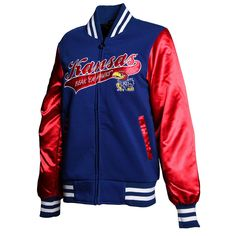 f4723350947 Women s Franchise Club Kansas Jayhawks Sweetheart Varsity Jacket