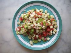 Peruvian Appetizer   Solterito, easy and refreshing  Andean corn, fava bean, and chili pepper salad.