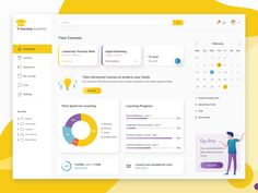 Online Learning Platform Dashboard by Violina Arabadzhieva on Dribbble Ui Design, Web Design Tips, Flat Design, Design Process, Graphic Design, Dashboard Ui, Dashboard Design, Design Thinking, Motion Design