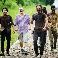 Greg Nicotero, Steven Yeun, Andrew Lincoln, Danai Gurira & Tyler James Williams