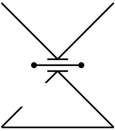 Open delta = openness to change; long horizontal bar = the Byzantine delta and numeral 4 (lucky number; Byzantine = Jerusalem, home); downward facing arrow = overall mindfulness symbol (force/waterdrop falling on a horizontal surface and creating a ripple effect beyond; = the need to stay in the present moment rather than dwell in the future or the past); three horizontal bars separating the overall X figure to = overall alchemical symbol for copper, creativity, balance.