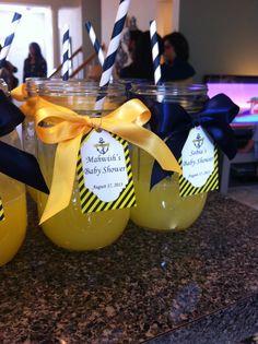 Nautical theme baby Shower Favors (mason jars)