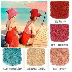 Vintage Beach in Vinnis Colours Serina. By Btrix Dsigns. Yarn Color Combinations, Colour Schemes, Color Patterns, Yarn Colors, Colours, Yarn Inspiration, Colour Pallette, Color Balance, Design Seeds