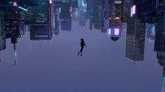 General cyberpunk skyscraper upside down animated movies Spider-Man Miles Morales Marvel Comics Spider-Man: Into the Spider-Verse Marvel Wallpaper, Wallpaper Pc, Computer Wallpaper, Wallpaper Backgrounds, Superman Wallpaper, Spider Verse, Marshmello Wallpapers, Animated Spider, Cinema