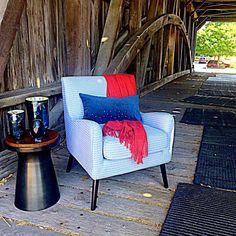 Bridge your way to our 20% off casual seating sale! #coveredbridge #bridge #interiordesign #style #sale #chair #furniture #westelm #westelmoutlet #lancaster #lancasterpa #pennsylvania
