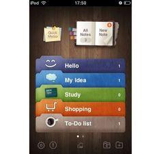 Note Lite iPhone App Design Inspiration