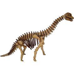 Quebra-Cabeça 3D Dinossauro Braquiossauro - Cia Laser