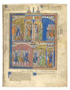 Joab Reproaches David; David Greets the People; Sheba's Rebellion; Judah Remains Loyal   Fol. 43r   The Morgan Library & Museum