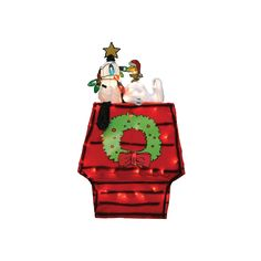 Peanuts Snoopy on Doghouse 26-in. Pre-Lit Christmas Decor - Indoor and Outdoor, Multicolor
