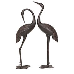 Sunjoy L-GF002PCA 43 Inch Sculptured Cranes in Bronze Finish * Continue to the product at the image link.