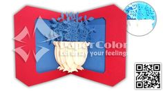 A haft of Flower 3D Pop up card, 3D greeting card, 3D Pop up greeting card, Kirigami card