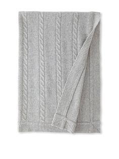 63% OFF Portolano Baby Cashmere Cable Receiving Blanket (Grigio Chiaro)