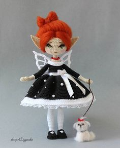Crochet Fairy, Crochet Flowers, Knitted Dolls, Crochet Dolls, Flower Fairies, Sewing Toys, Amigurumi Doll, Crochet Animals, Doll Accessories