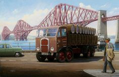 Uk Painting - The Forth Bridge by Mike Jeffries