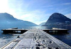 Lugano lake -winter