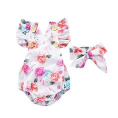 Baby Girl Clothes Fashion Kids Clothes Newborn Baby Clothes Flower Infant Jumpsuits Children Clothing