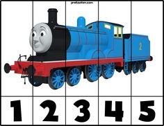 FREE! Printable Thomas & Friends Number Puzzles - Autism & Education