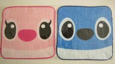NEW! Disney Lilo & Stitch, Stitch & Angel Wash Cloth Towel, Free U.S. Shipping!