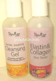 Reviva Labs Cleanser and Collagen Toner - click thru for review and giveaway
