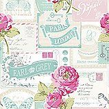 Rose Postcard Wallpaper in Pink by Muriva EAN: 5060233003228