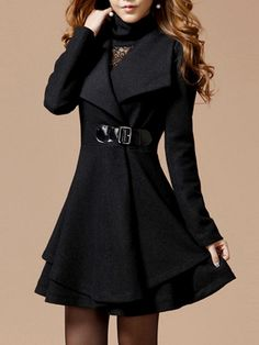 Buy Appealing Lapel Plain Overcoats online with cheap prices and discover fashion Overcoats at Fashionmia.com.