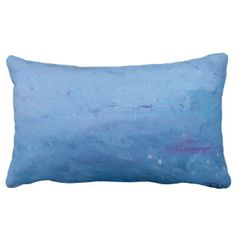 Rain on Lake Lumbar Pillow