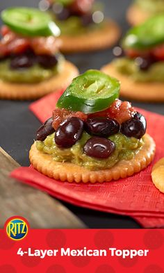Guacamole, black beans, salsa and jalapeño peppers – really how can you go wrong with these ingredients?  But serve them on RITZ Crackers for a March Madness® celebration and it's party time.