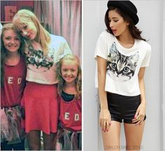 Forever 21 'Cat Graphic Cropped Tee' - $14.80
