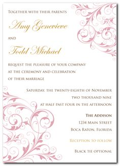 ladylike swirl invitation