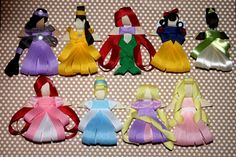 Princess Sculpted Ribbon Hair Bows by KaylaBugsBoutique on Etsy
