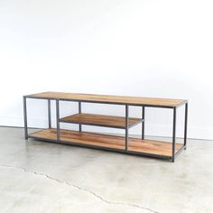 Industrial TV Stand Metal and Reclaimed Wood Media Console Steel Furniture, Unique Furniture, Rustic Furniture, Living Room Furniture, Furniture Design, Luxury Furniture, Cheap Furniture, Furniture Stores, Discount Furniture