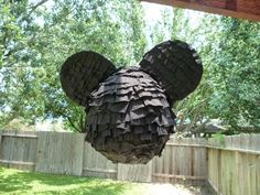 Homemade Mickey mouse pinata!