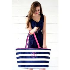 Love this Personalized Large Beach Tote Bag - So CUTE!