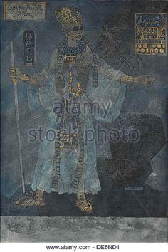The King of Egypt. Costume design for the opera Aida by Giuseppe Verdi, c. 1900. Artist: Schwarz, Pavel Friedrikhovich - Stock Image