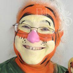 DIY Tigger Face Paint @Melissa Squires Squires Squires Squires Squires McSorley