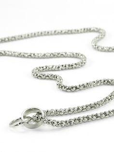 Damen Grundkette Metall für Charms, silber von Fashion Jewelry bei www.meinkleidchen.de