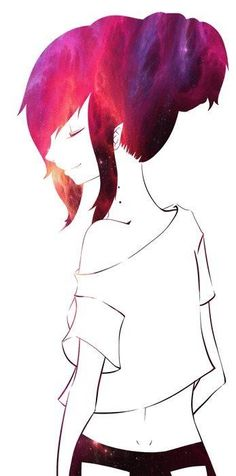 Love this picture of Marceline! i wonder if i could actually dye my hair like that