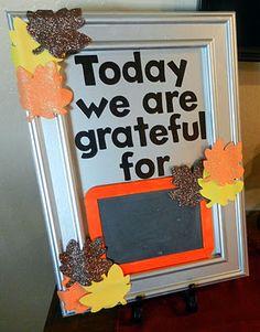 Cornucopia of Creativity Series: Grateful Board {A Couple of Craft Addicts}