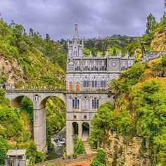 Throwback Wednesday - why not? Going through some old photos and found that we were here, almost to the day, seven years ago making our way from Bogota to Montevideo. This is Las Lajas Sanctuary in Ipiales Colombia, near the Colombia/Ecuador border.