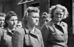Nazi SS-women at the Belsen camp. The ugliness of their deeds are showing in their outward appearances.
