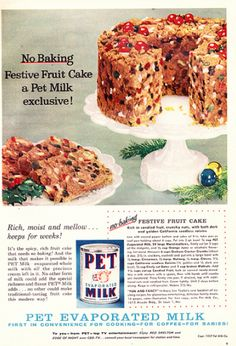 No Bake Festive Fruitcake from 1957 Pet Milk