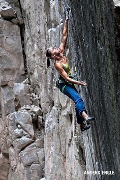 Jenn Vennon attempts Slice of Death a new 5.12d a the Narrows, Carbondale, Colorado. Photo by Anders Engle.