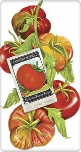 Plant heirloom tomatoes and display your love for your home-grown goodness with this Mary Lake-Thompson Heirloom Tomato Seed Packet Towel. The beautiful towel includes a packet of heirloom tomato seeds!