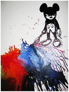 Epic Mickey Melted Crayon Art!!! martinhoangphotography.tumblr.com