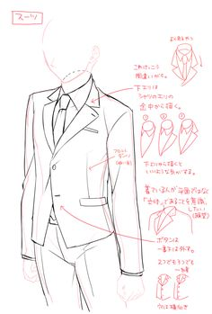 Suit drawing refrence