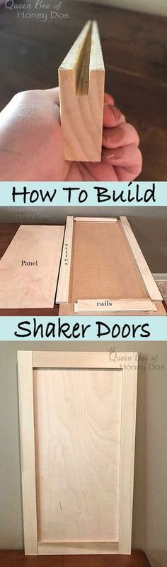 Ted's Woodworking Plans - How to Build Shaker Doors - Get A Lifetime Of Project Ideas & Inspiration! Step By Step Woodworking Plans Woodworking Projects Diy, Woodworking Jigs, Woodworking Furniture, Diy Wood Projects, Furniture Plans, Home Projects, Wood Crafts, Kids Furniture, Furniture Making